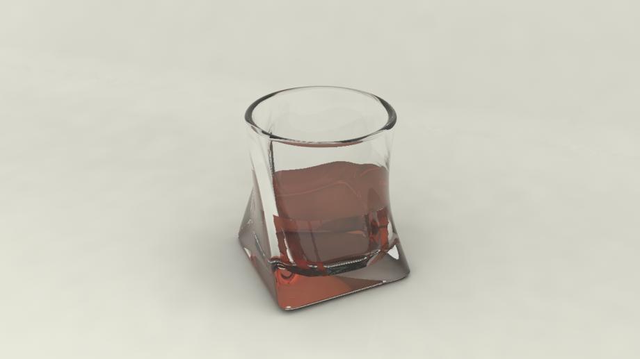一杯威士忌3D模型