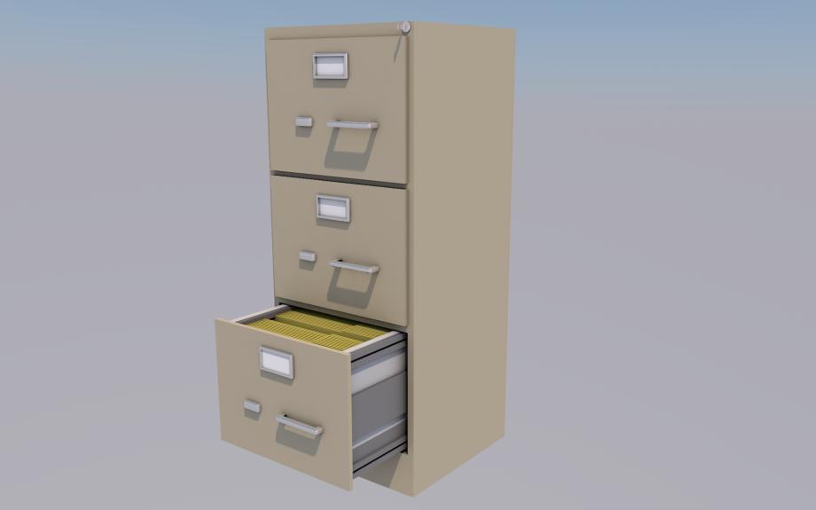 办公室文件柜3D模型