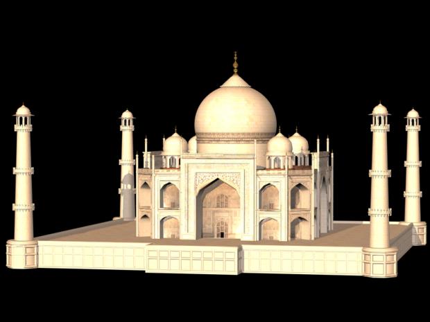 印度泰姬陵3D模型