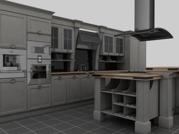 厨房场景3D模型