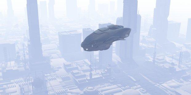 城市巡逻车飞行器3D模型
