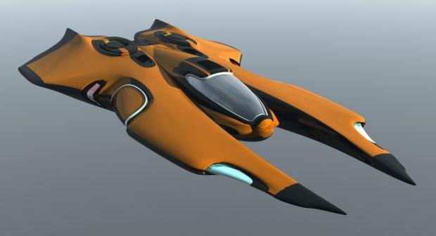 幽灵掠夺者星际飞船3D模型