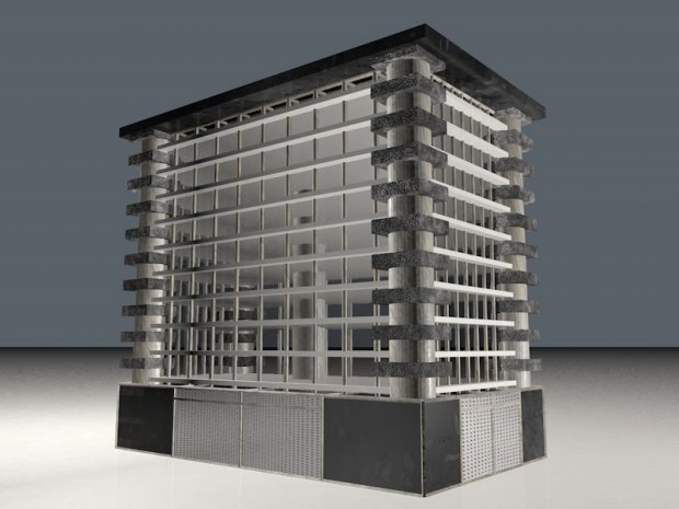 建筑物房子楼房建筑3D模型