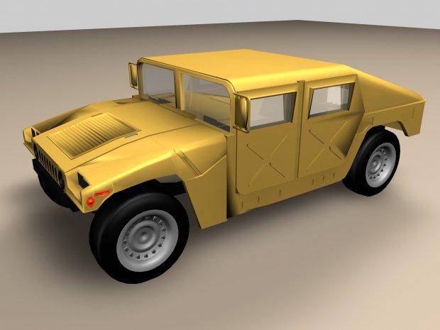 悍马车 汽车3D模型