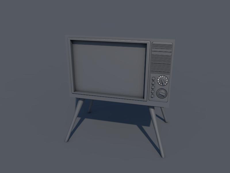 旧电视3D模型