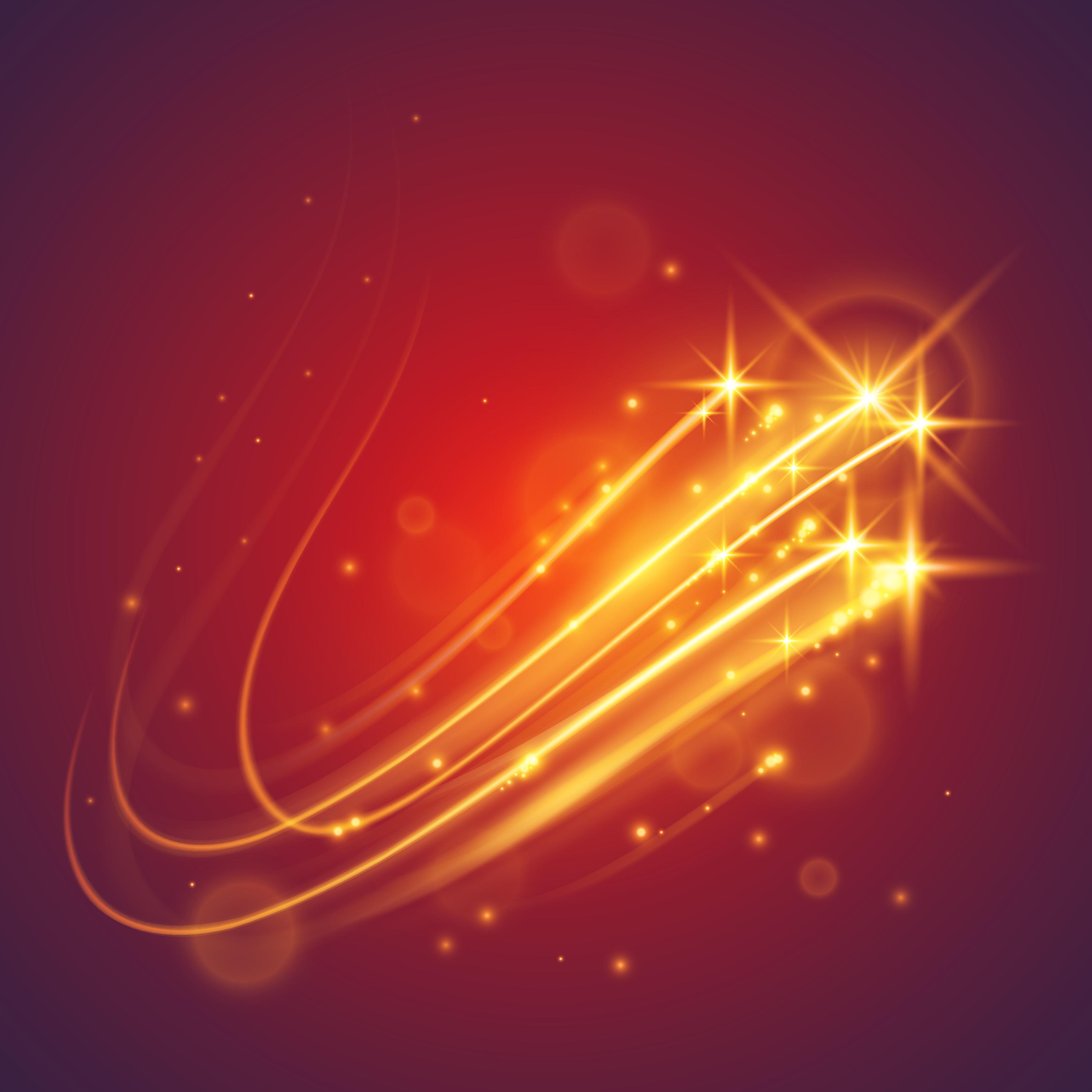 炫彩光线光效线条免扣元素