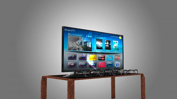索尼智能电视4K 3D模型