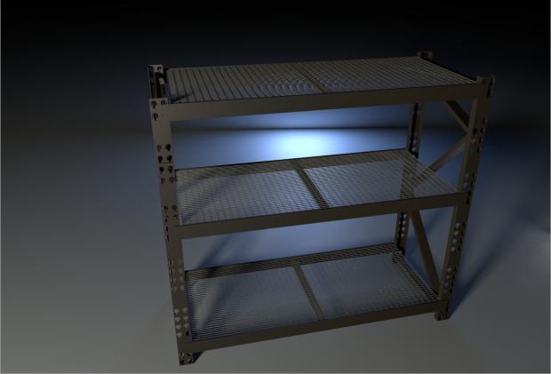 置物架货架仓储货架储存货架3D模型