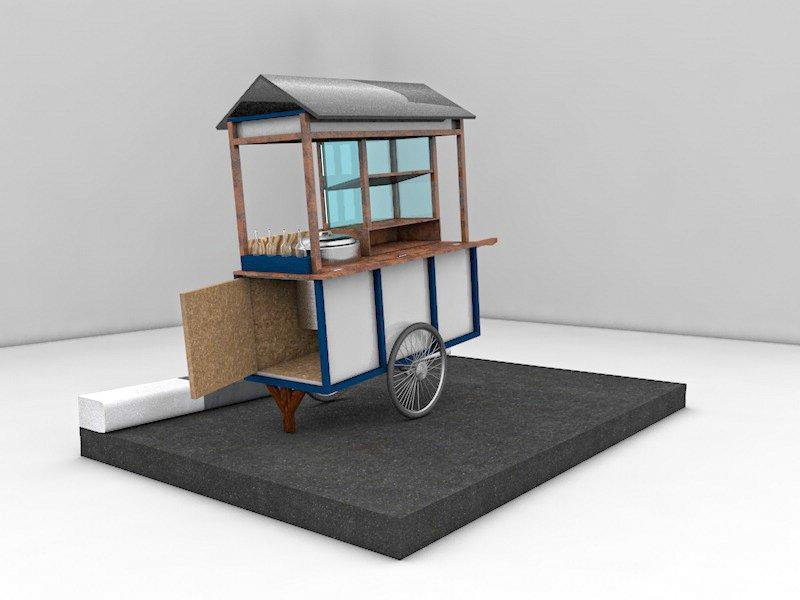 街头餐车3D模型