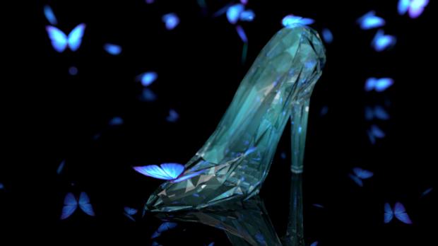 迪斯尼灰姑娘电影2015 VFX鞋模板3D模型