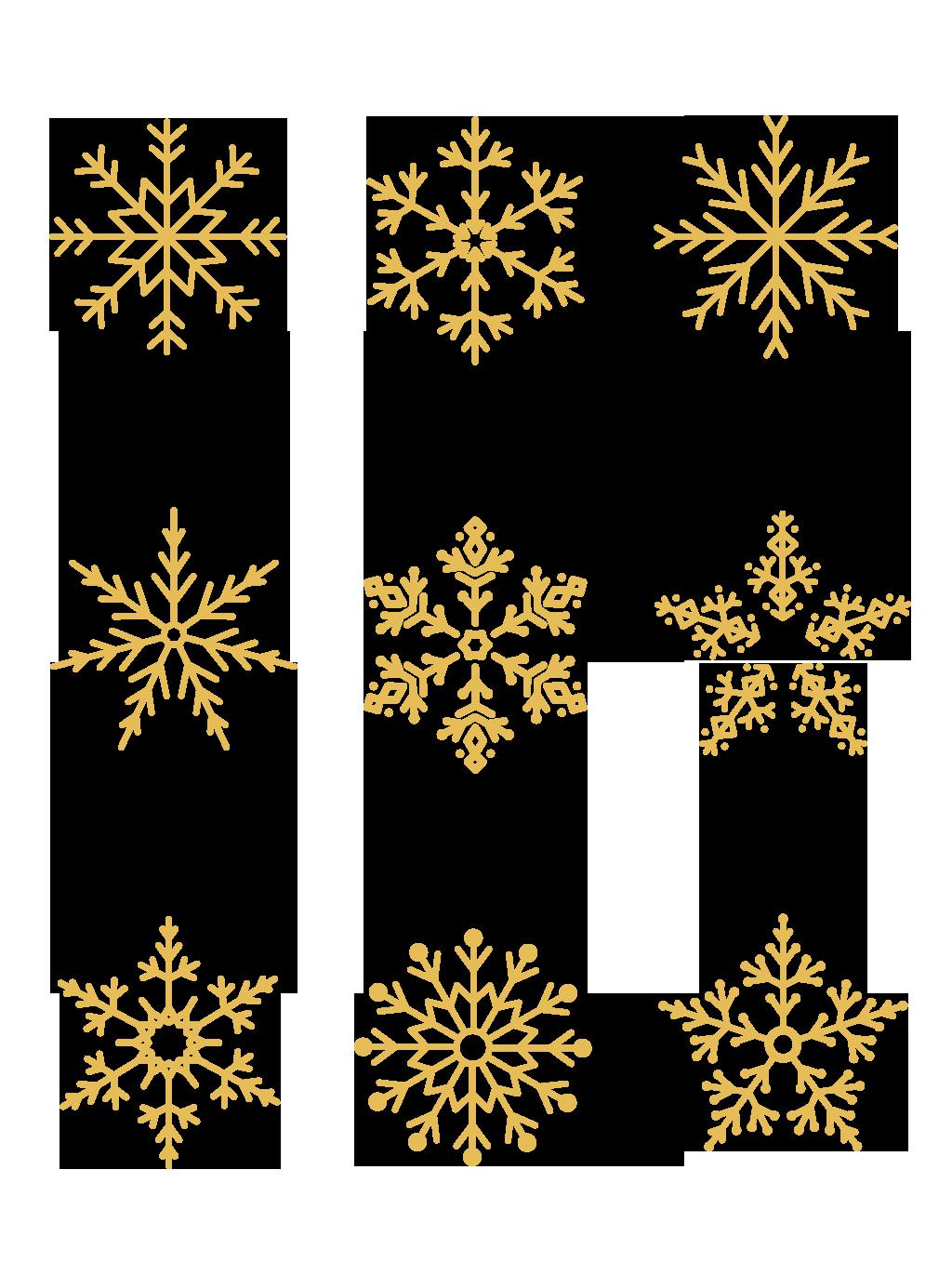 金色雪花免扣元素