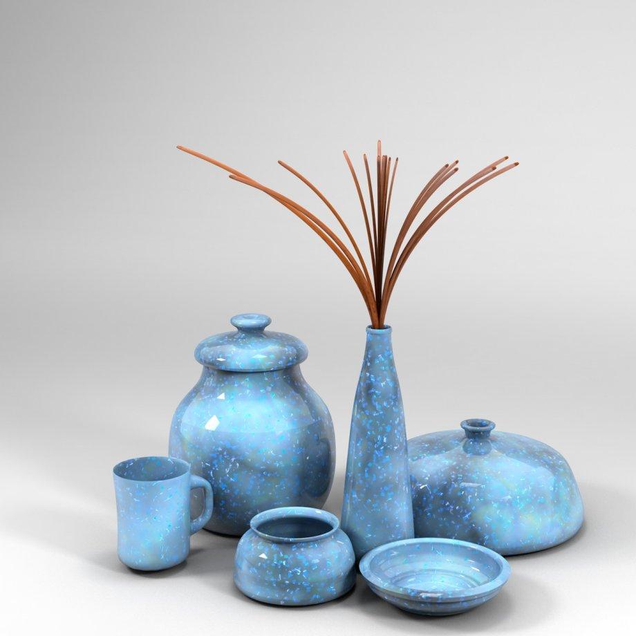陶器瓷器3D模型