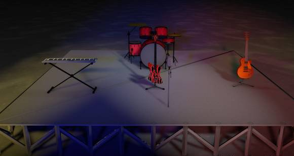音乐会舞台3D模型