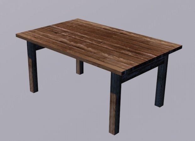 桌子 木桌 台子3D模型