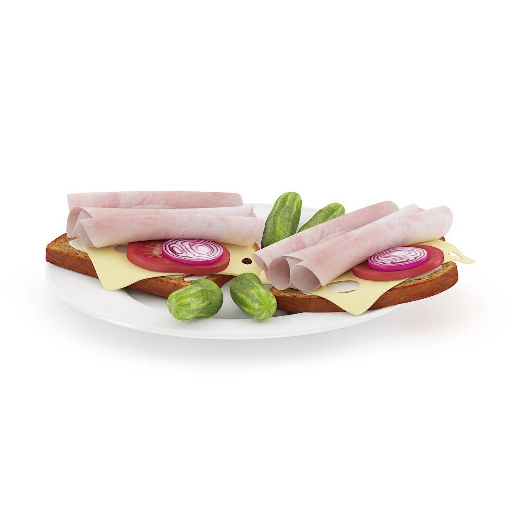 食物洋葱黄瓜C4D模型
