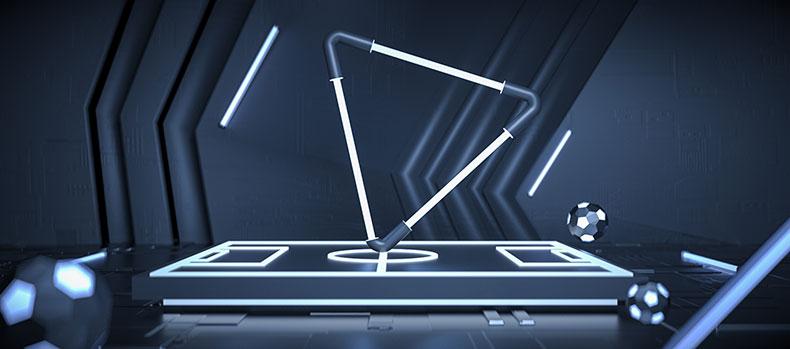 立体舞台场景炫酷空间科技场景电商C4D模型
