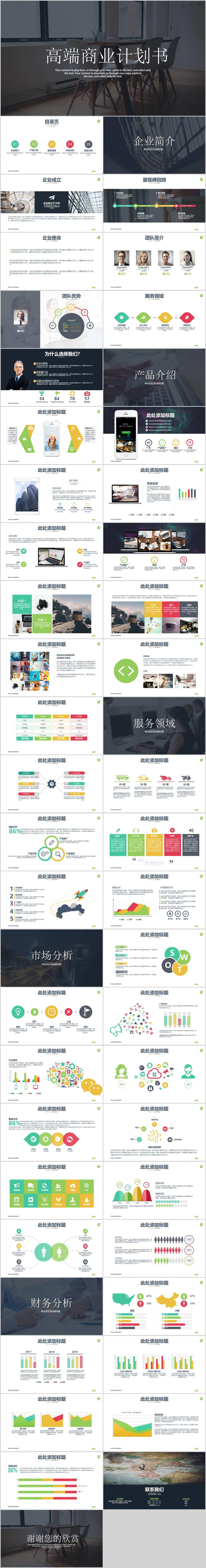 高端商务产品运营公司介绍商业计划书PPT
