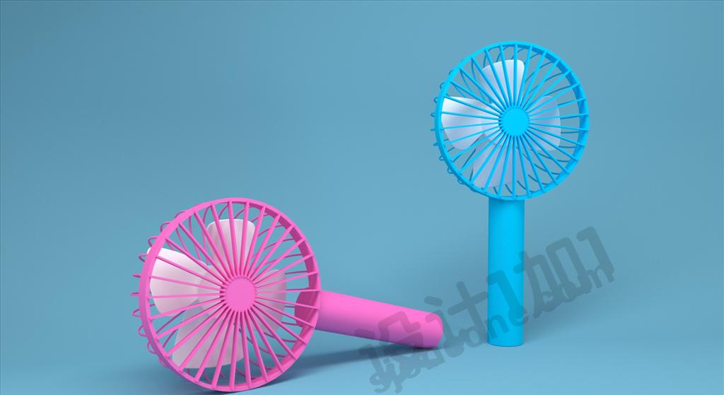 C4D夏季小风扇