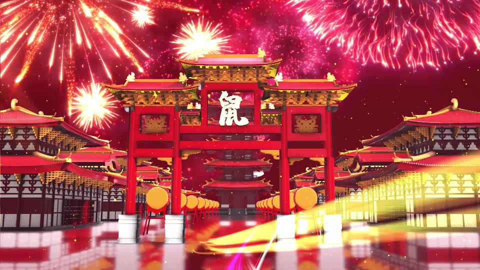 2020鼠年视频拜年晚会团拜会新年新春高清视频素材15