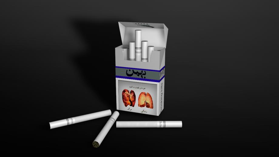 香烟烟盒3D模型