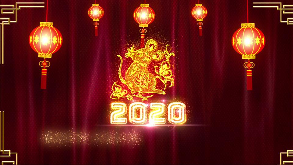 2020鼠年视频拜年晚会团拜会新年新春高清视频素材23