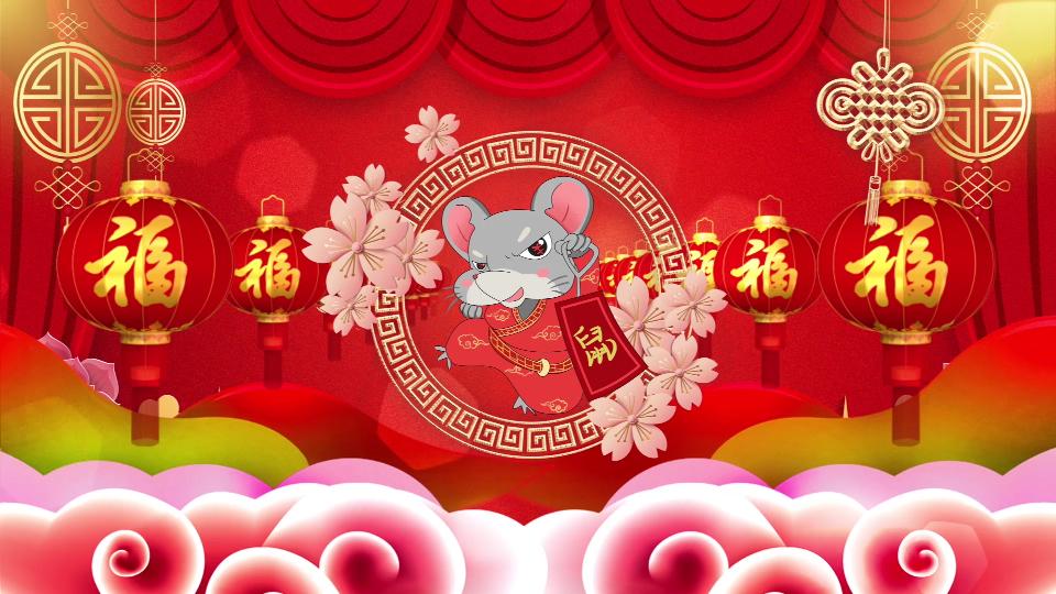 2020鼠年视频拜年晚会团拜会新年新春高清视频素材24