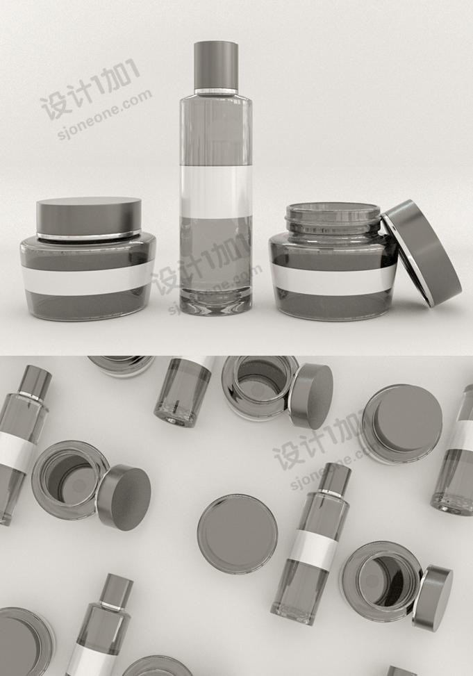 C4D化妆品瓶子建模模型