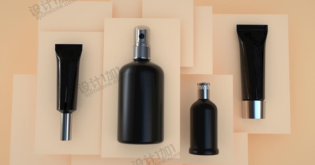 C4D香水护理化妆品外瓶外壳瓶子模型