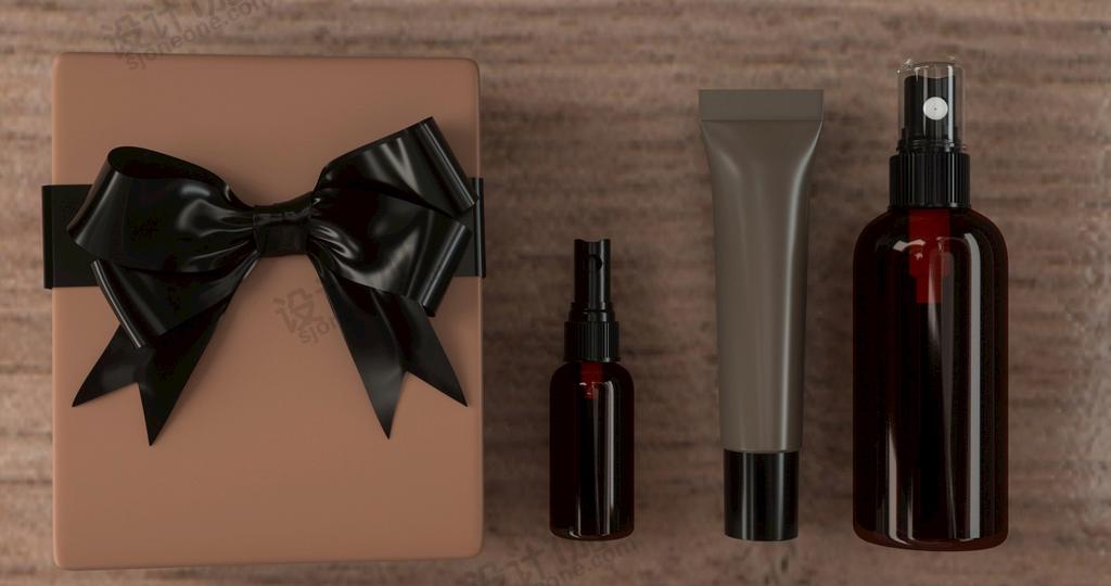 8款葡萄酒和化妆品洗护品外包装外瓶C4D模型