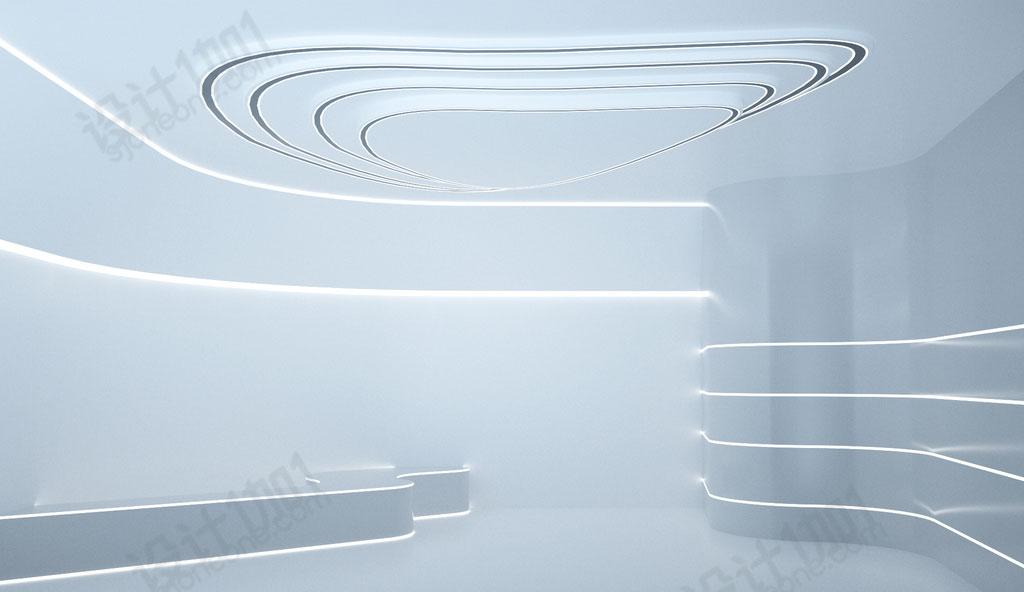 9款超科技感未来的c4d空间立体场景室内装修