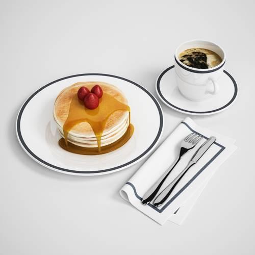 蛋糕叉子刀叉C4D模型