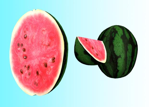 西瓜水果3D模型