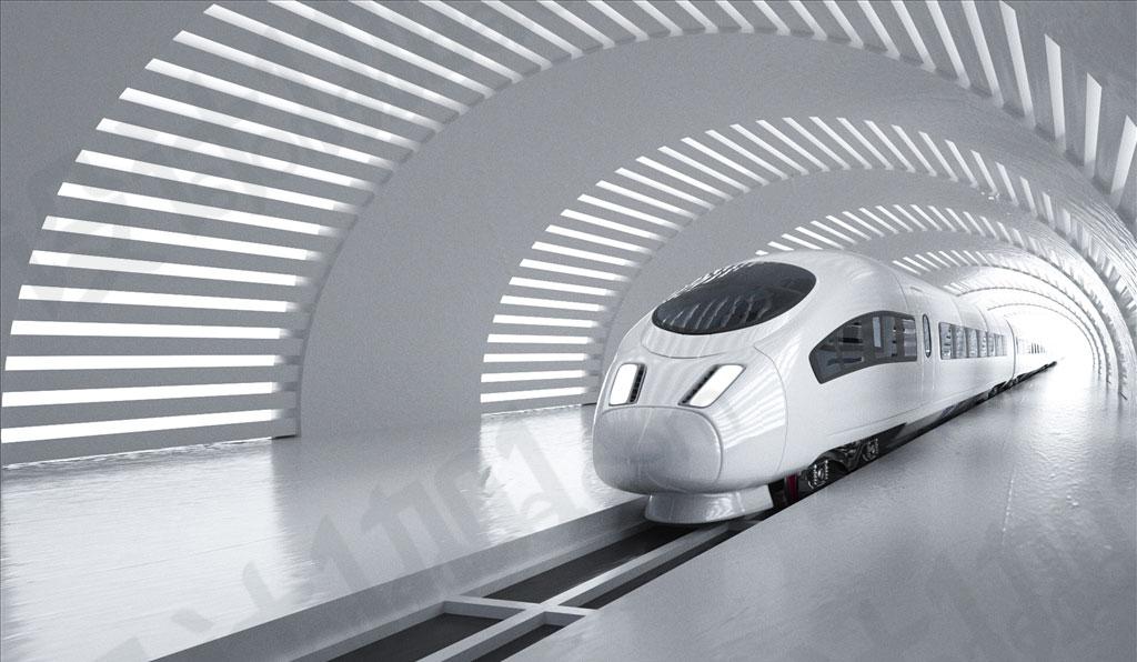c4d高科技高铁火车地铁科技感