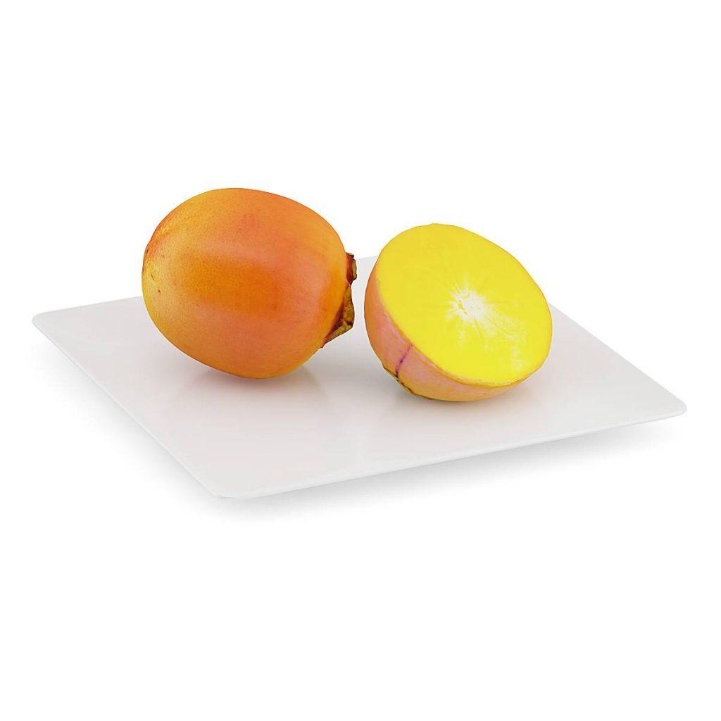 食物水果脆柿子C4D模型