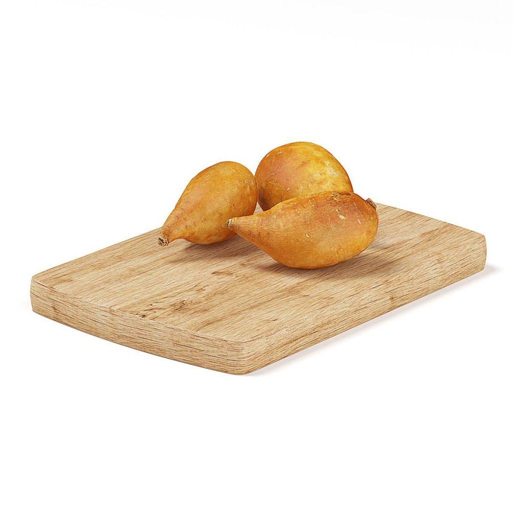 砧板上红薯食物模型红薯C4D模型