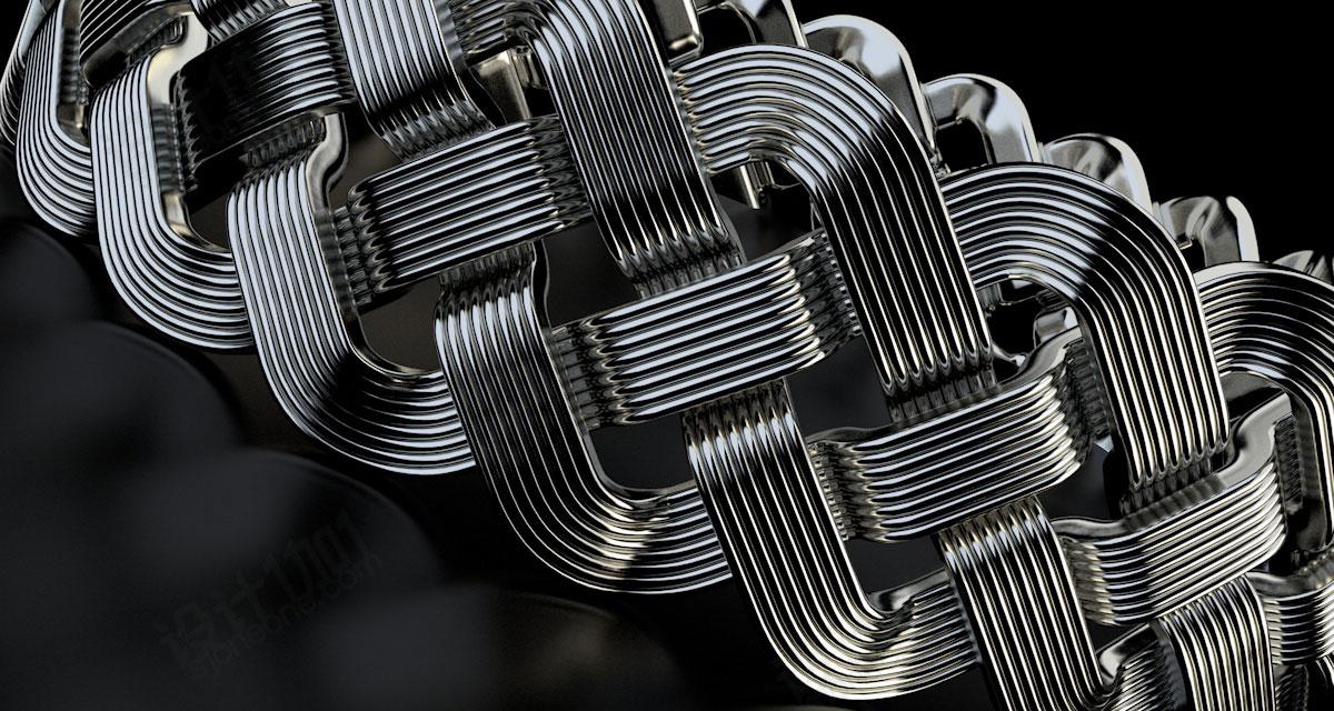 金属材质金线银线铜线铁线C4D模型素材带材质贴图