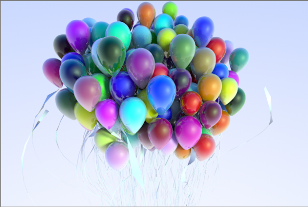 空中气球彩色气球3D模型