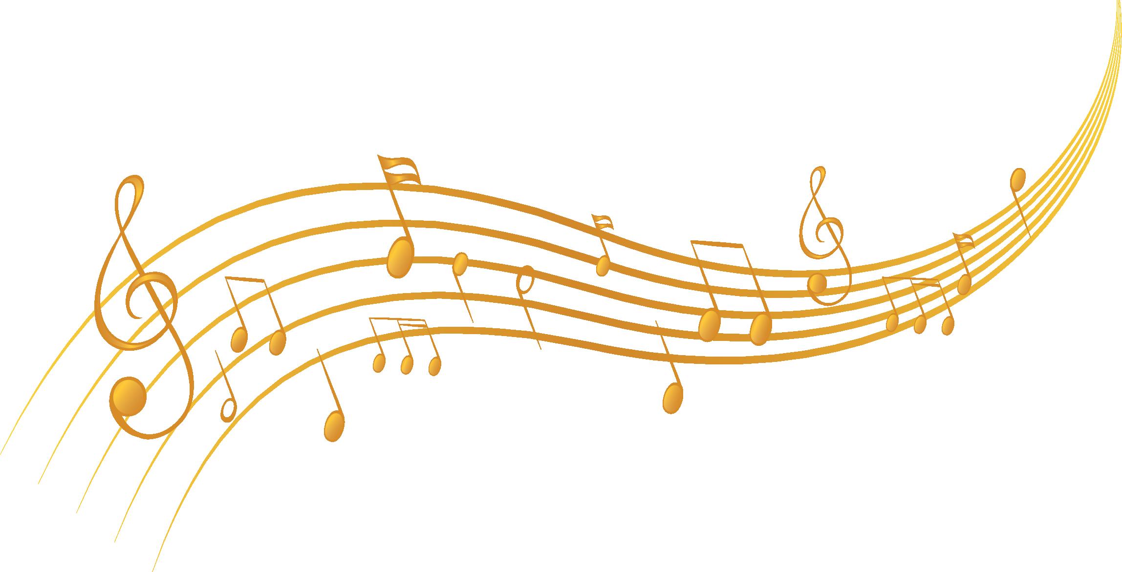 金色音乐旋律素材
