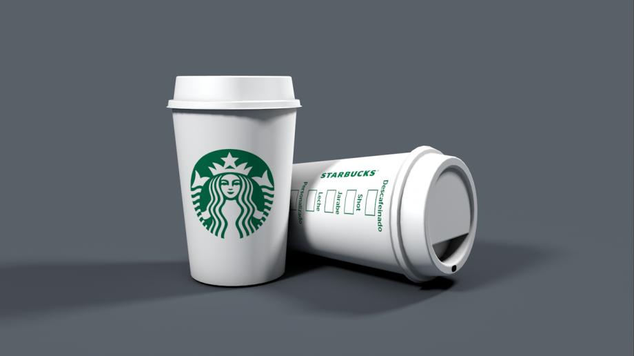 星巴克咖啡杯3D模型