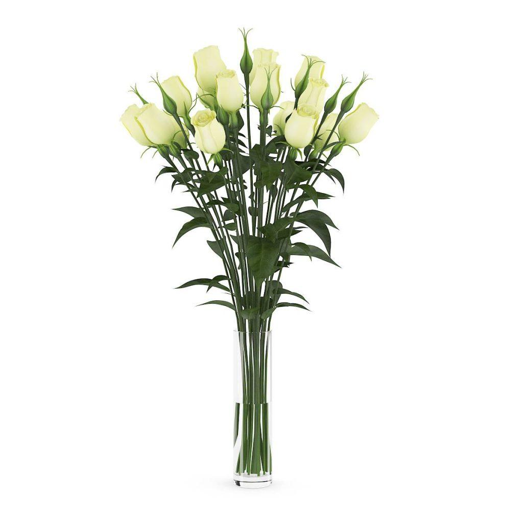 黄玫瑰花花束C4D模型