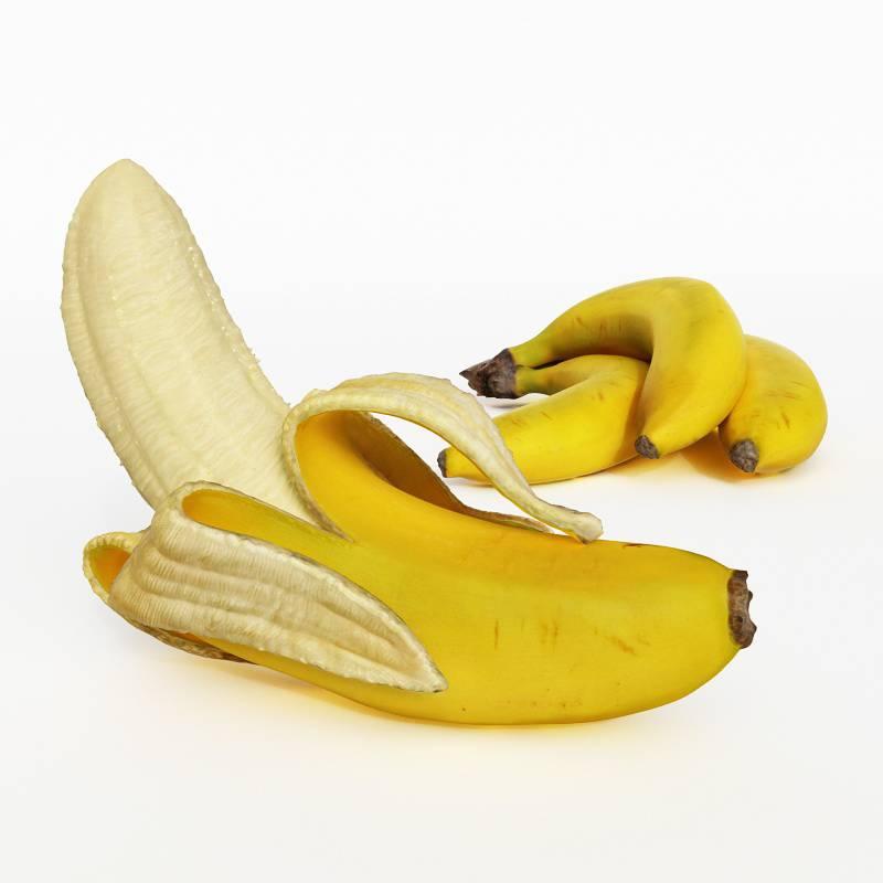 香蕉蔬菜水果C4D模型