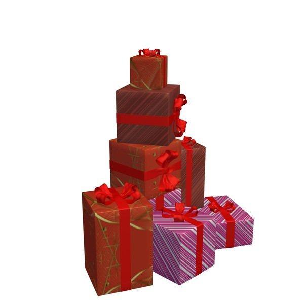 礼品盒礼物包装盒3D模型