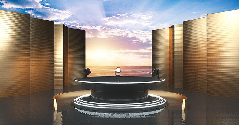 立体舞台场景炫酷空间科技场景电商C4D工模型