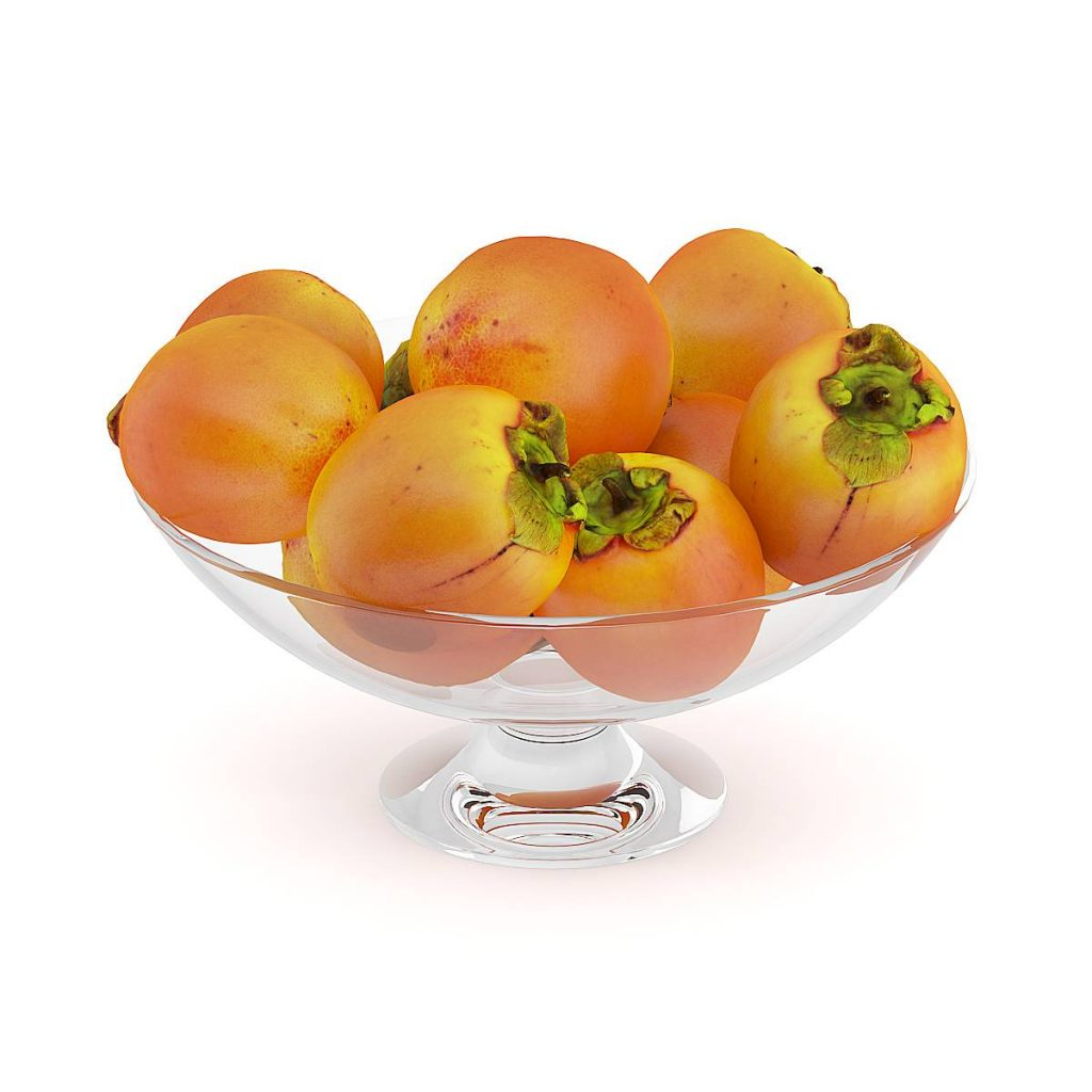 水果盘中的食物水果柿子C4D模型