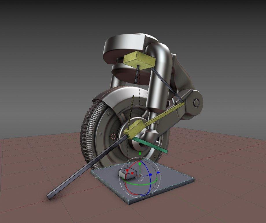 3D模型素材:科技感创意感十足的单轮飞车