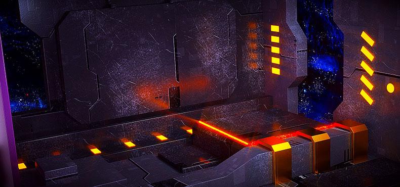 立体舞台场景炫酷空间科技背景电商C4D模型