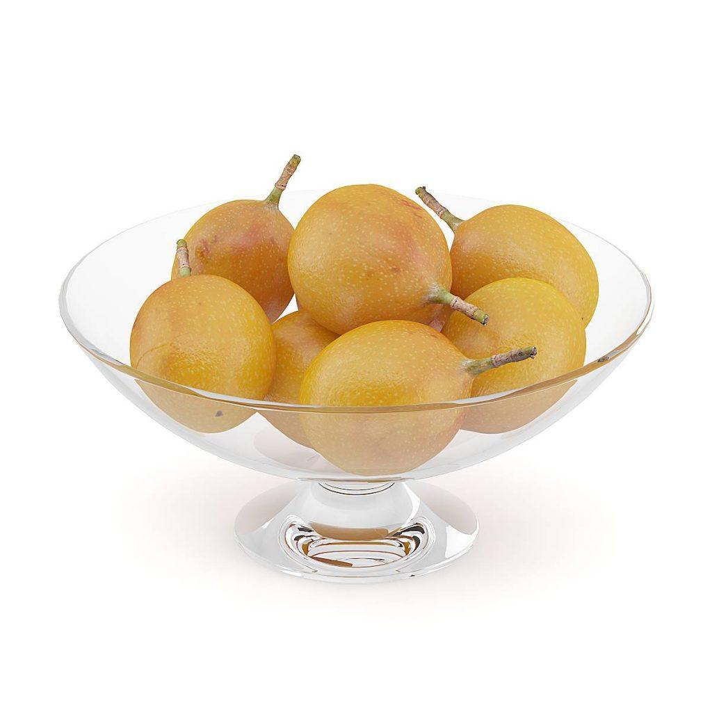 果盘中的食物水果C4D模型