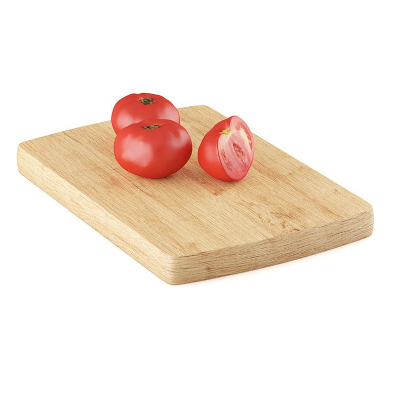 食物西红柿番茄砧板菜板C4D模型