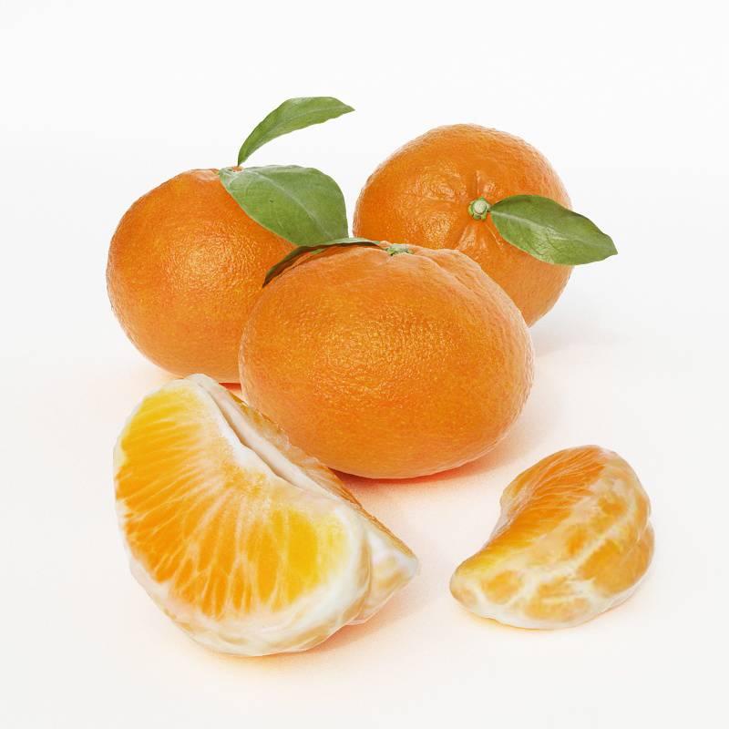水果橘子桔子C4D模型