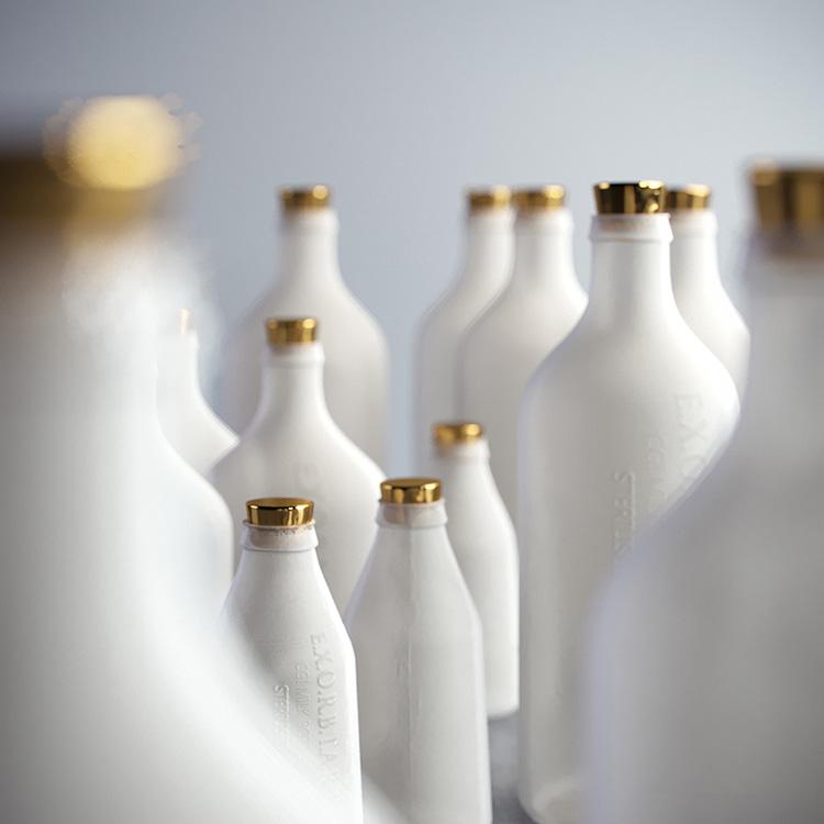 牛奶瓶创意场景C4D模型